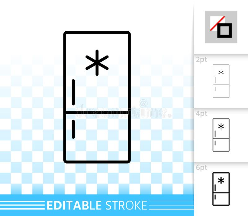 Линия значок холодильника простая черная вектора бесплатная иллюстрация