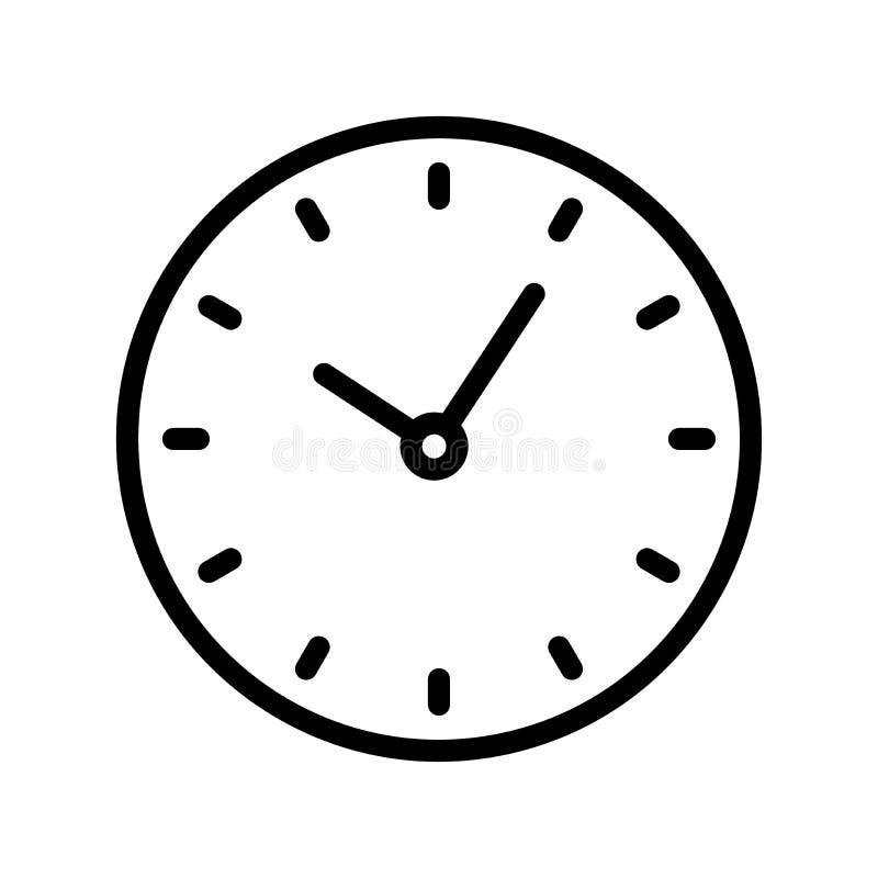 Линия значок часов бесплатная иллюстрация