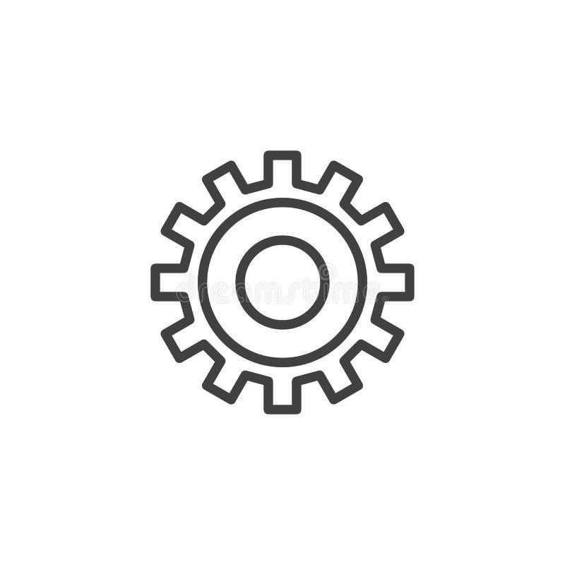 Линия значок шестерни установки бесплатная иллюстрация