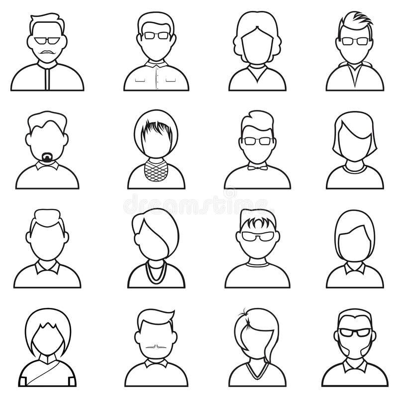Линия значок людей стоковое изображение rf