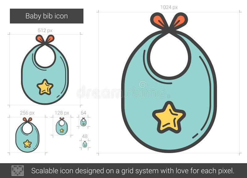 Линия значок bib младенца бесплатная иллюстрация