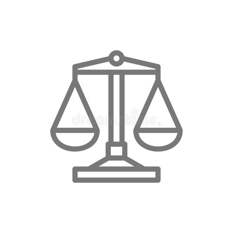 Линия значок Libra иллюстрация штока