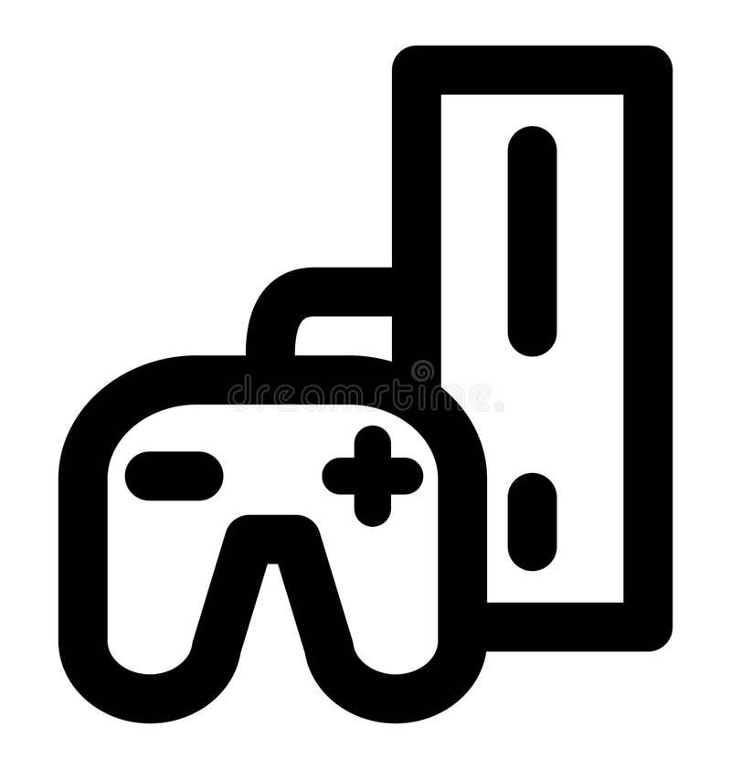 Линия значок Playstation смелая которая может легко доработать или отредактировать и покрасить также бесплатная иллюстрация