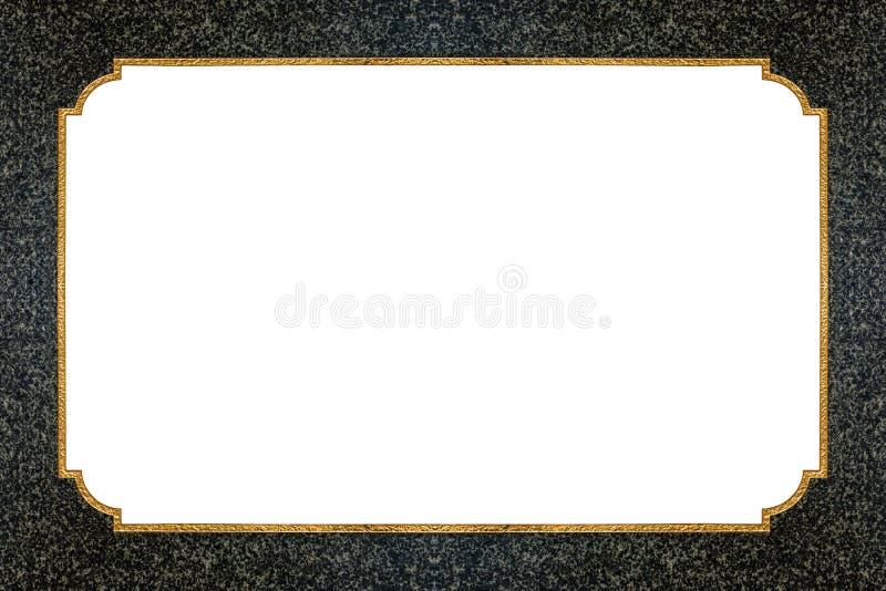 Линия золота на каменной текстуре иллюстрация штока