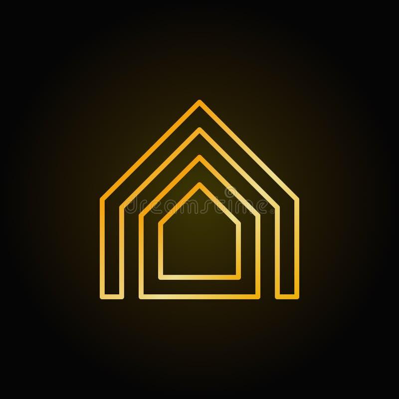 Линия золотой значок свойства тонкая бесплатная иллюстрация