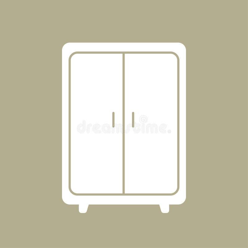 Линия искусство кухонного шкафа иллюстрация вектора