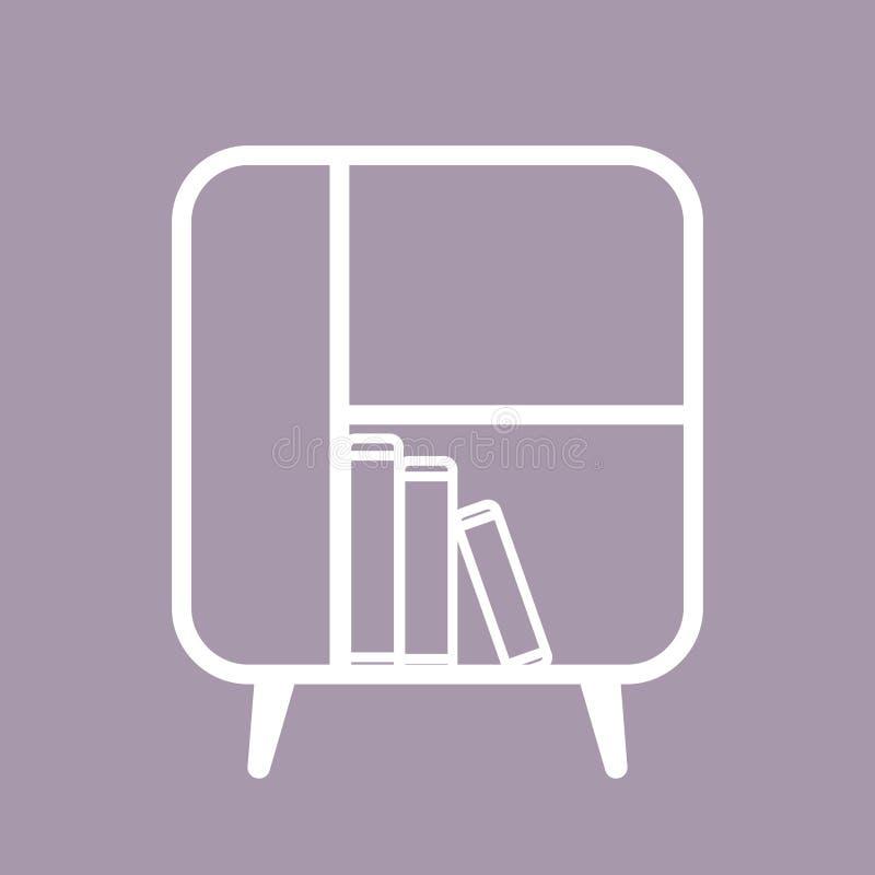 Линия искусство шкафа иллюстрация вектора