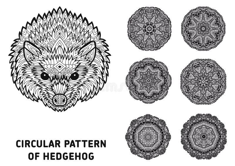 Линия искусство элемент конструкции ваш Голова ежа бесплатная иллюстрация