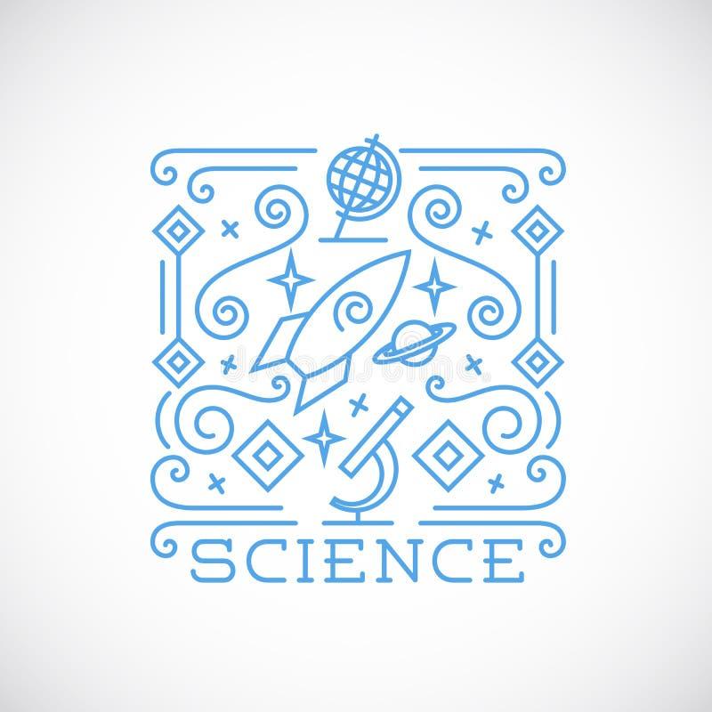 Линия иллюстрация вектора науки стиля иллюстрация штока