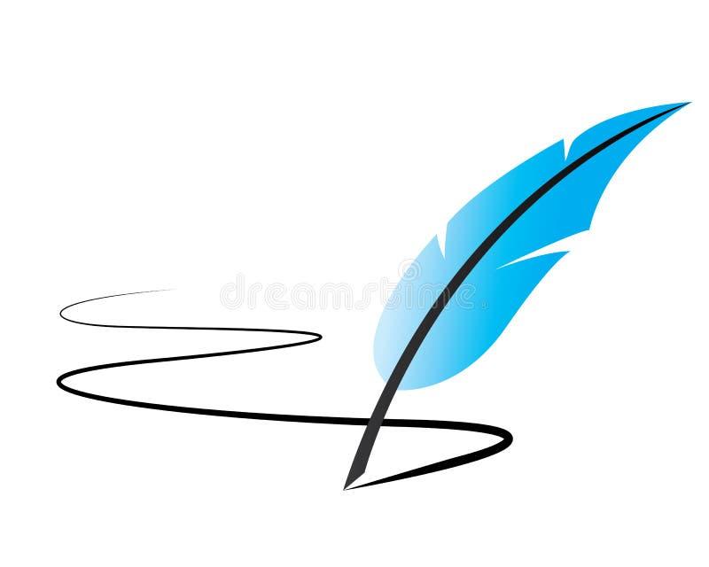 Линия иллюстрация ручки пера иллюстрация вектора