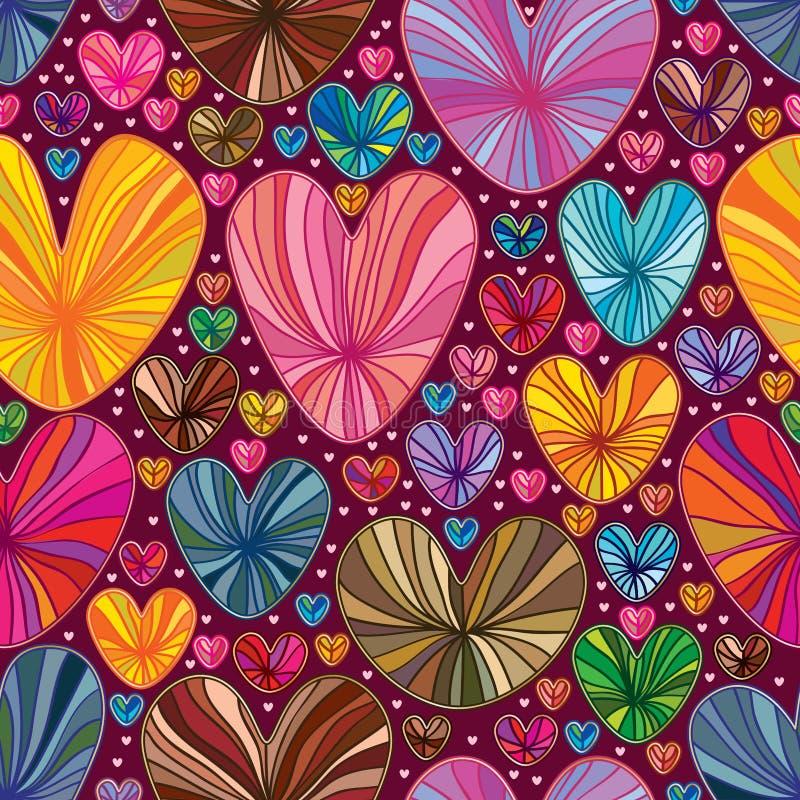 Линия картина влюбленности чертежа красочная безшовная иллюстрация штока