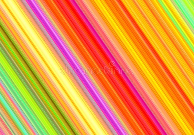 Линия картина раскосной радуги пестротканая иллюстрация вектора