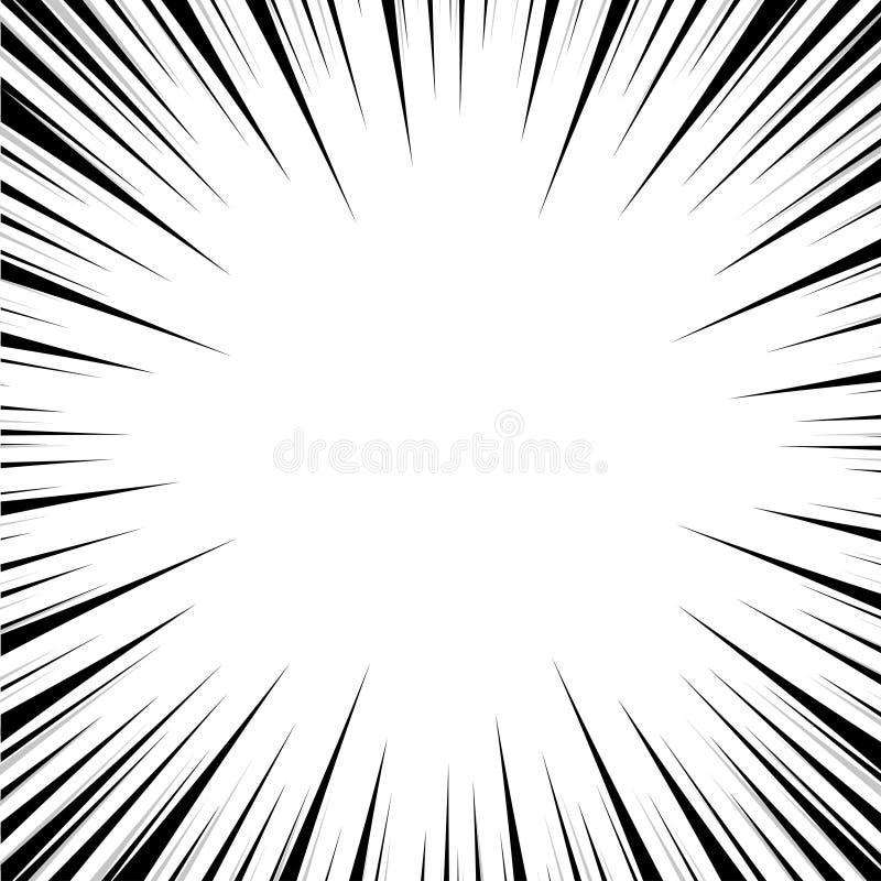 Линия комики скорости искусства шипучки предпосылки иллюстрация вектора