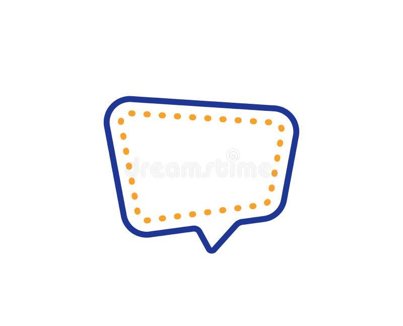 Линия комментария значок болтовни Знак пузыря речи Социальное сообщение средств массовой информации r иллюстрация штока