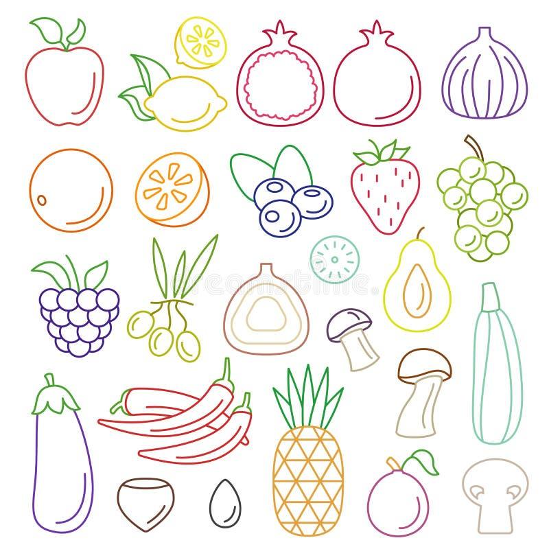 картинка условного обозначения фрукты и овощи явно доносились дерева