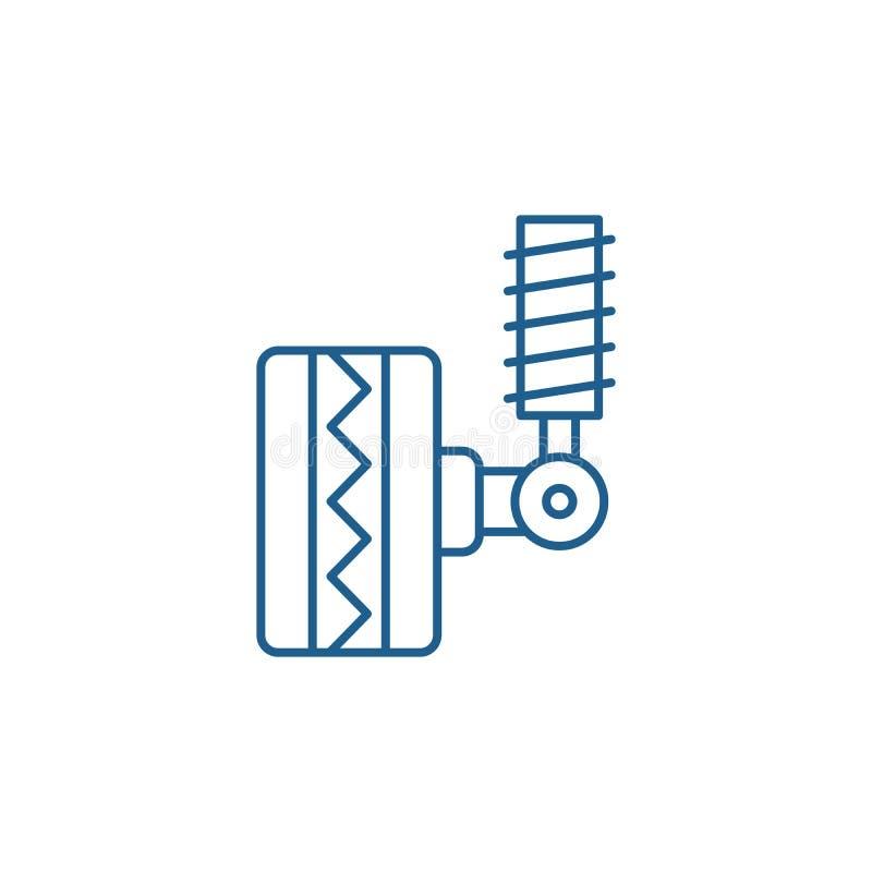 Линия концепция автошины приспосабливая значка Автошина приспосабливая плоский символ вектора, знак, иллюстрацию плана бесплатная иллюстрация