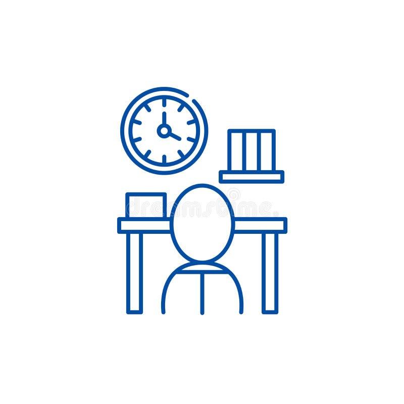 Линия концепция канцелярщины значка Символ вектора канцелярщины плоский, знак, иллюстрация плана иллюстрация вектора