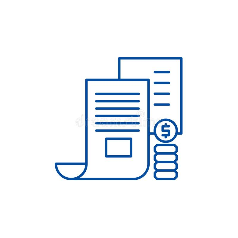 Линия концепция меморандума инвестора значка Символ вектора меморандума инвестора плоский, знак, иллюстрация плана иллюстрация штока