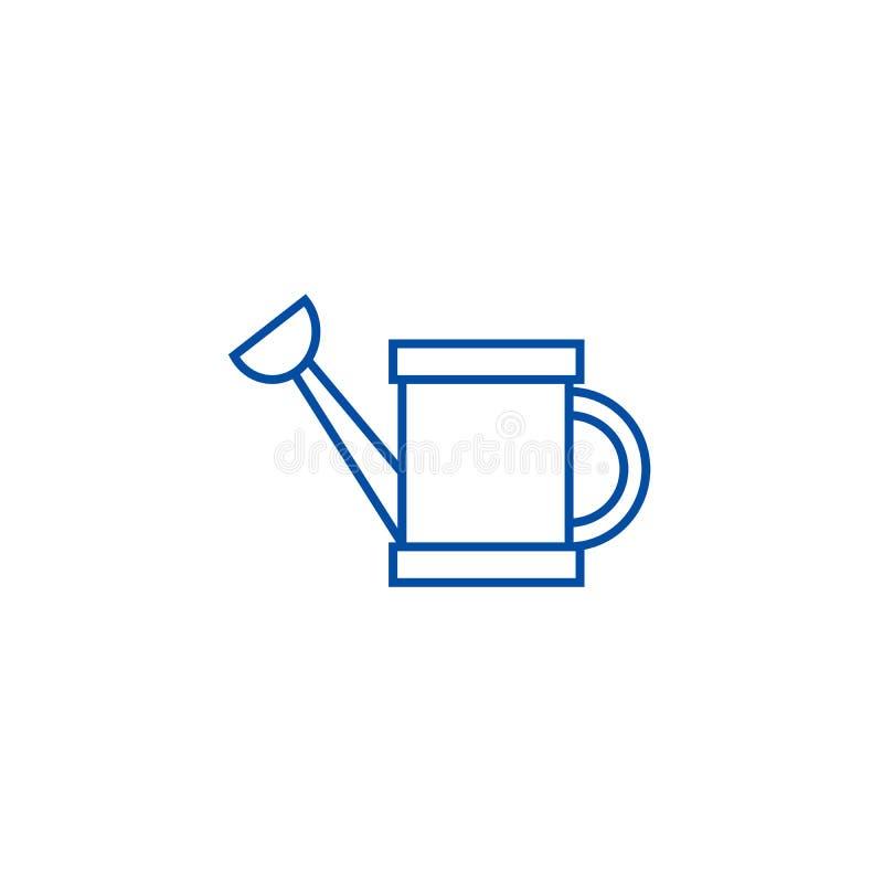 Линия концепция моча консервной банки значка Мочить может плоско символ вектора, знак, иллюстрация плана иллюстрация штока