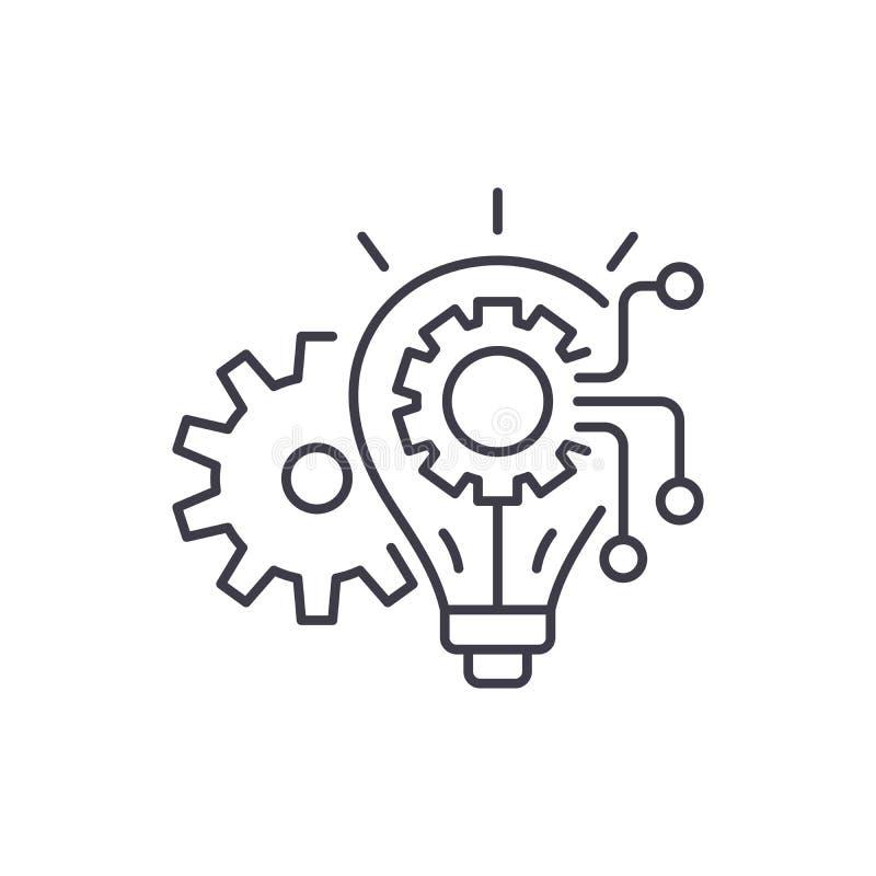 Линия концепция технической системы значка Иллюстрация вектора технической системы линейная, символ, знак иллюстрация вектора