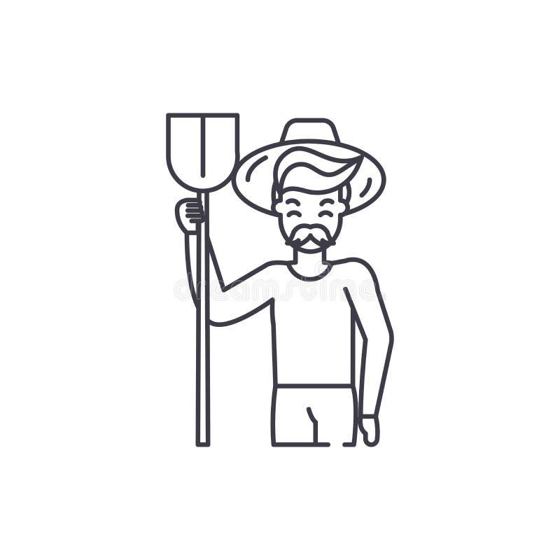 Линия концепция Agronomist значка Иллюстрация вектора Agronomist линейная, символ, знак бесплатная иллюстрация