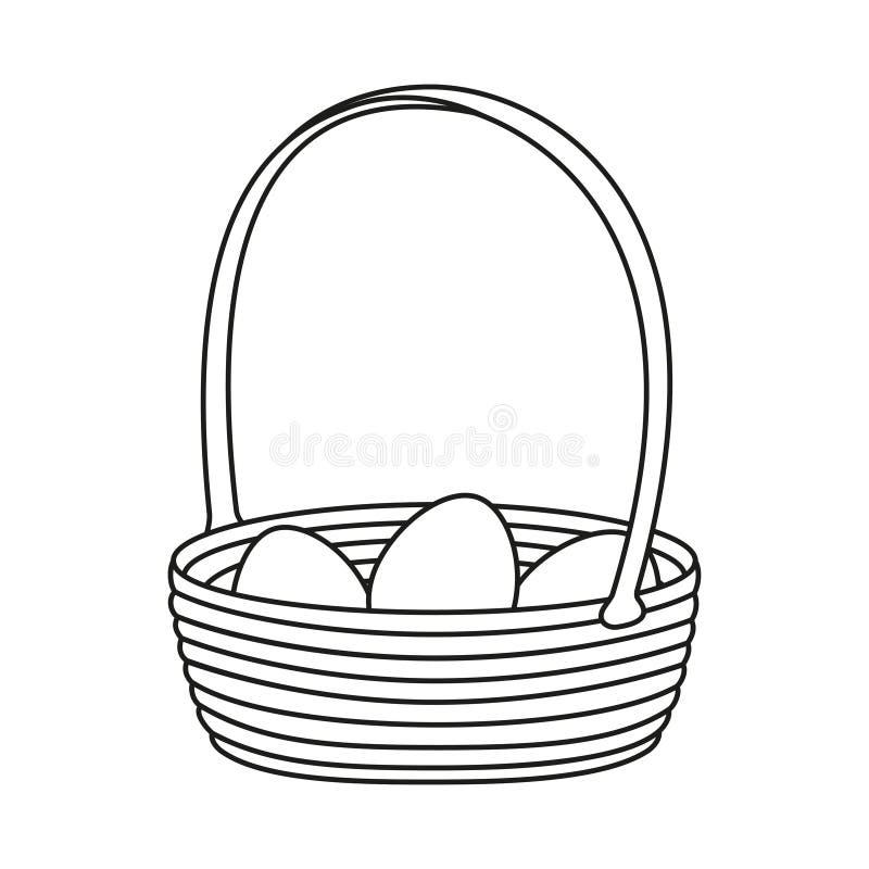 Линия корзина искусства черно-белая плетеная яя бесплатная иллюстрация