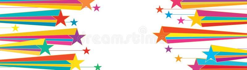 Линия красочное разбивочное знамя звезды бесплатная иллюстрация