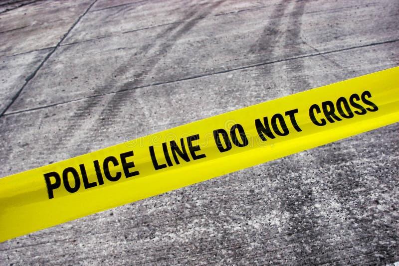 линия лента злодеяния улицы места полиций стоковые фотографии rf