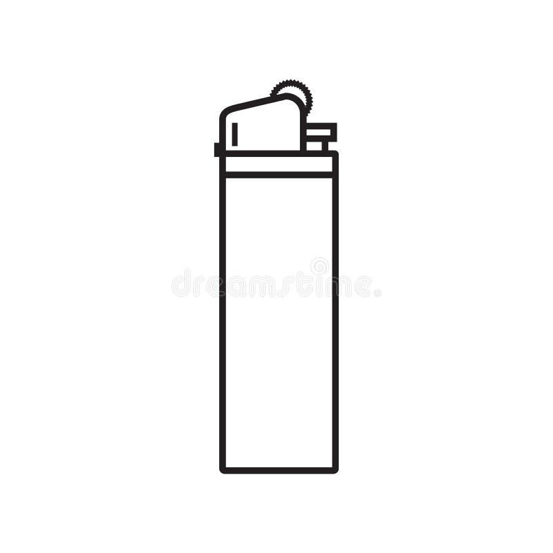 Линия лихтер значка иллюстрация вектора