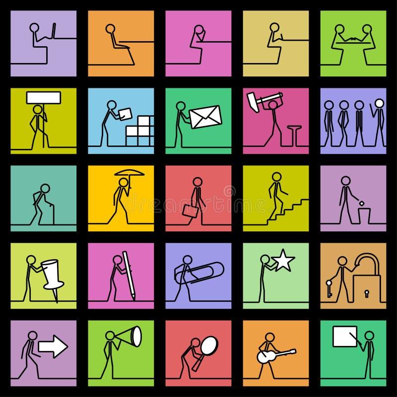 Download Линия маленьких бизнесменов Иллюстрация вектора - иллюстрации насчитывающей шаги, линия: 40577166