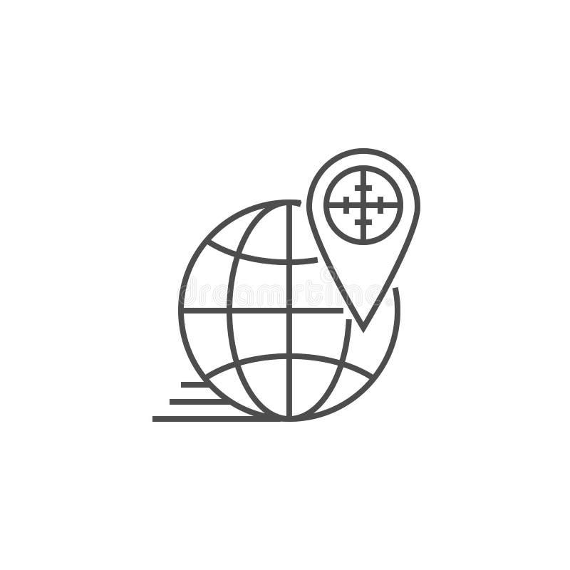 Линия нацеливания значок Geo иллюстрация вектора