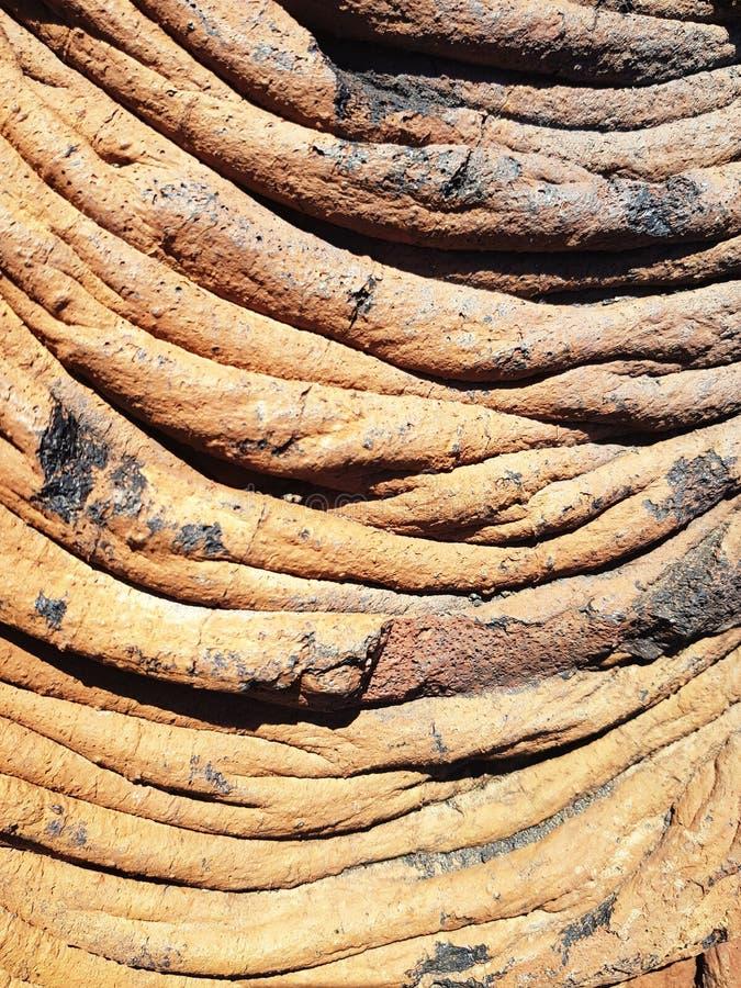Линия образования затвердетой лавы на острове El Hierro стоковые фото