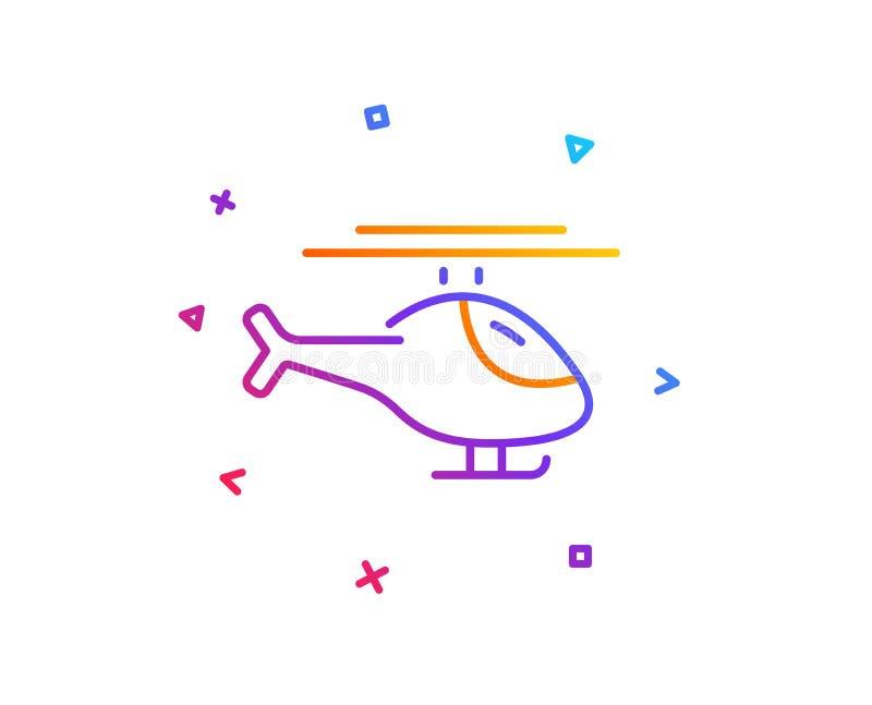 Линия перехода значок вертолета Знак транспорта полета вектор иллюстрация вектора