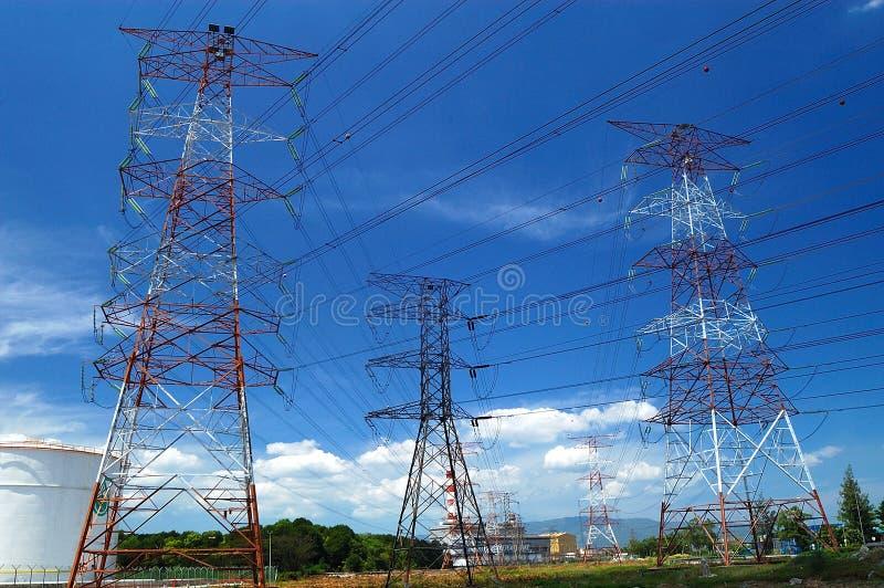 Линия передачи tower стоковая фотография rf