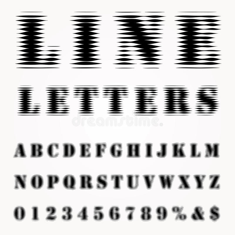 Линия письма иллюстрация вектора