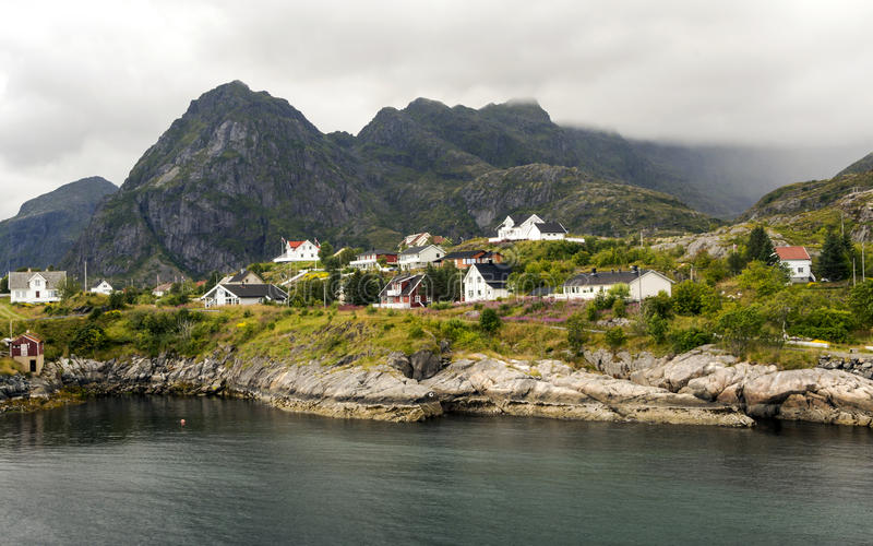 Линия побережья Норвегии стоковое изображение rf