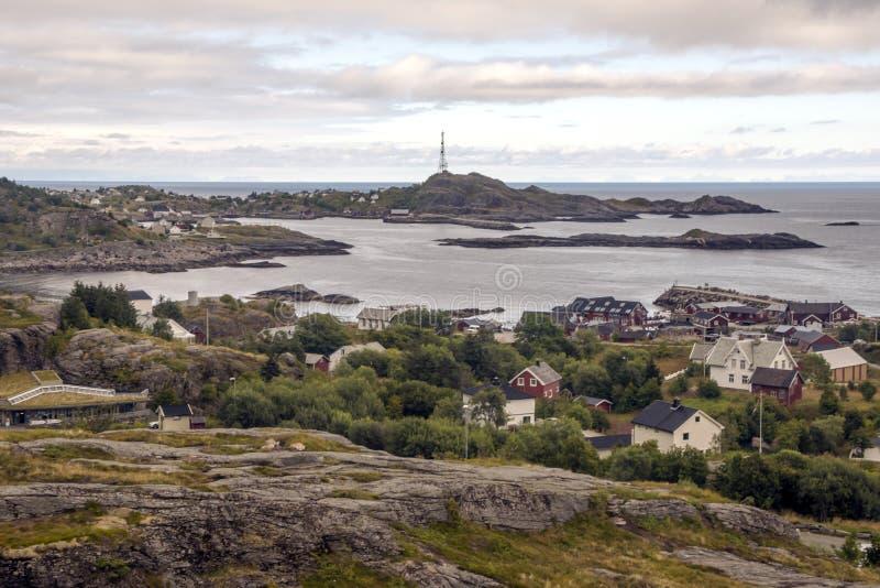 Линия побережья Норвегии стоковое фото rf