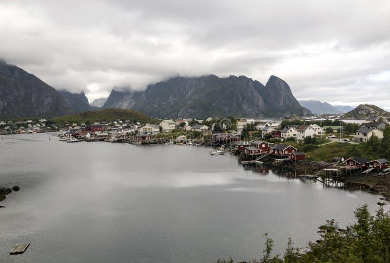 Линия побережья Норвегии стоковые изображения