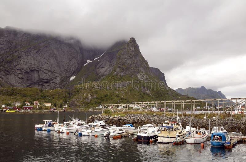 Линия побережья Норвегии стоковая фотография