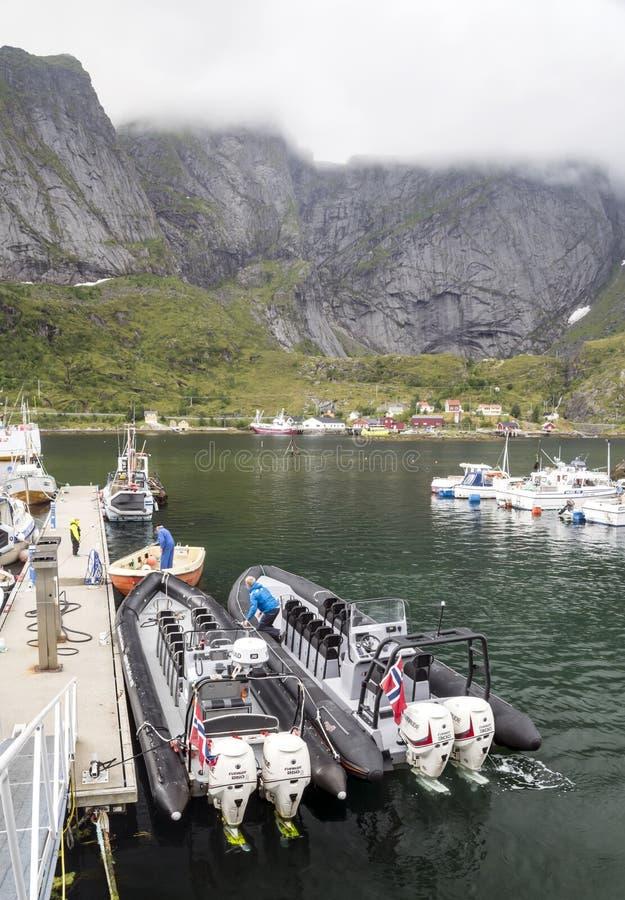 Линия побережья Норвегии стоковое изображение