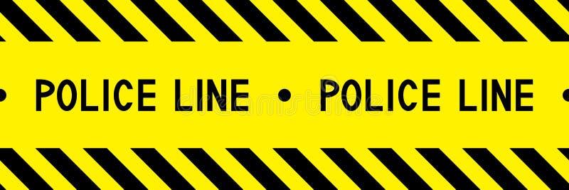 Линия полиции свяжите предупреждение тесьмой бесплатная иллюстрация