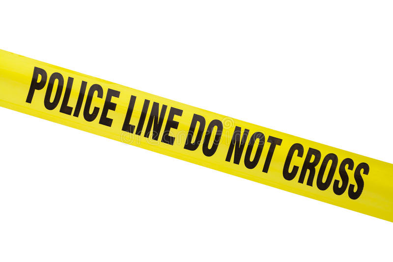 Линия полиции стоковые изображения rf