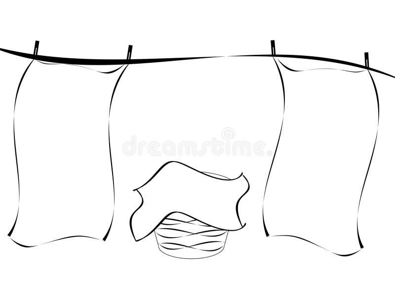 линия прачечного иллюстрация вектора