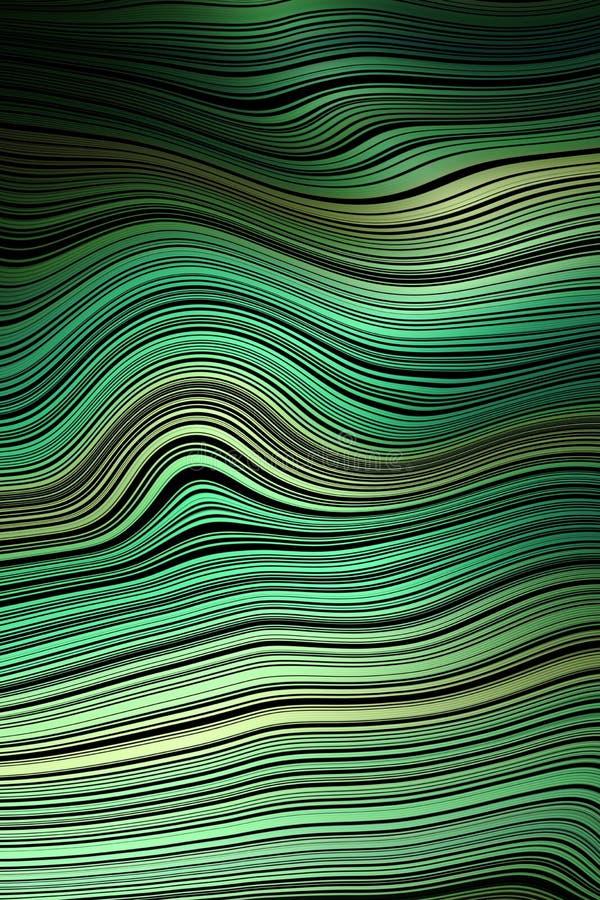 Линия предпосылка волны крышки картины, волнистая иллюзия иллюстрация вектора