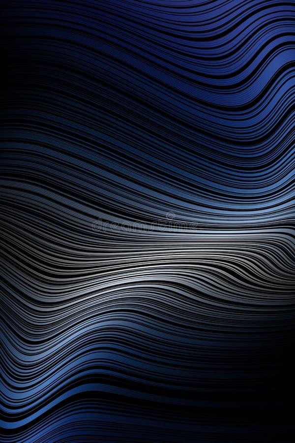 Линия предпосылка волны крышки картины, иллюзия движения иллюстрация вектора