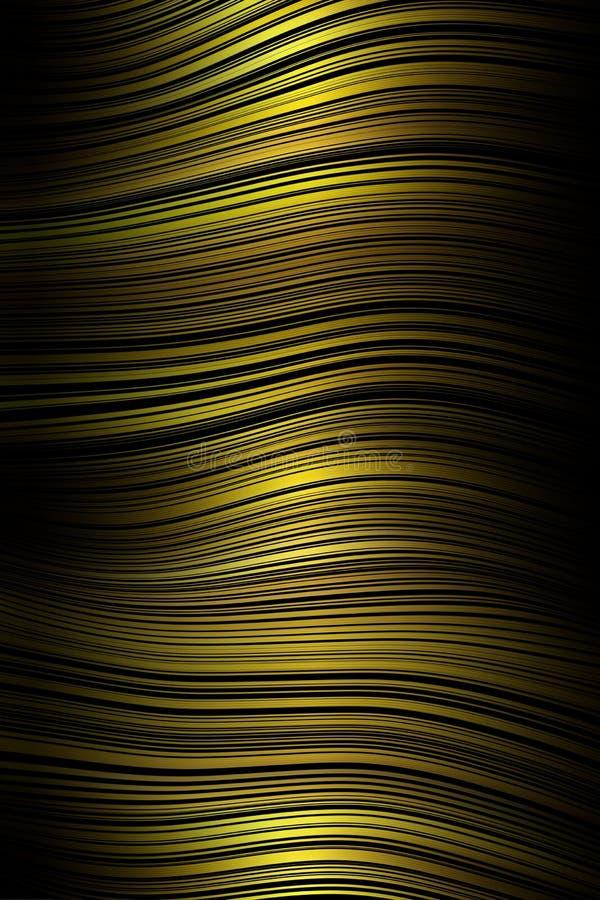 Линия предпосылка волны крышки картины, конспект движения иллюстрация вектора
