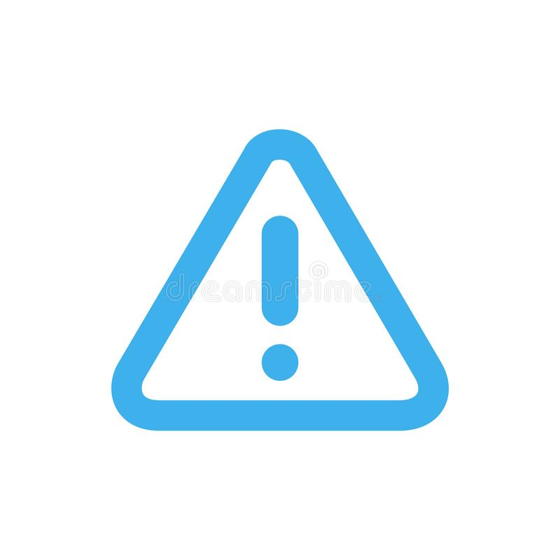 Линия предупреждение значка иллюстрация вектора