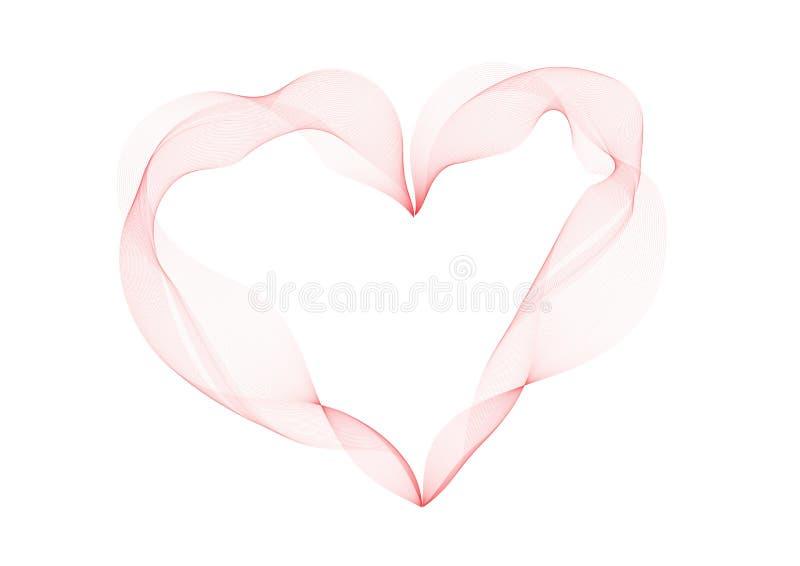 Линия прекрасного сердца абстрактная копченая изолированная на белизне бесплатная иллюстрация