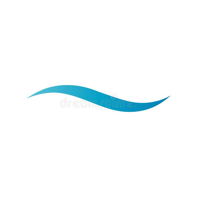 Линия природы символа вектора шаблона логотипа волны воды бесплатная иллюстрация