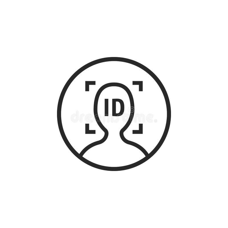 Линия простой логотип черноты id стороны тонкая иллюстрация штока